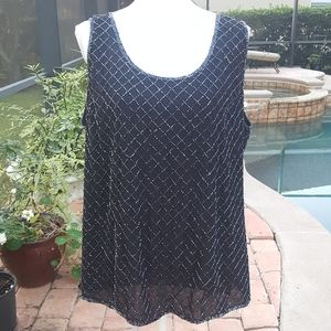 August Max Woman Party Beaded Sleeveless Top